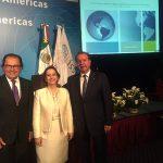 La Secretaria General de la OISS con los Secretarios Generales de la AISS y la CISS en Mexico