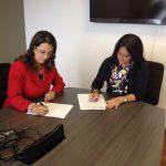De izquierda a derecha: Gina Magnolia Riaño Barón, Secretaria General de la OISS y Gloria Lucia Ospina Sorzano, Secretaria General del Ministerio de Trabajo de Colombia