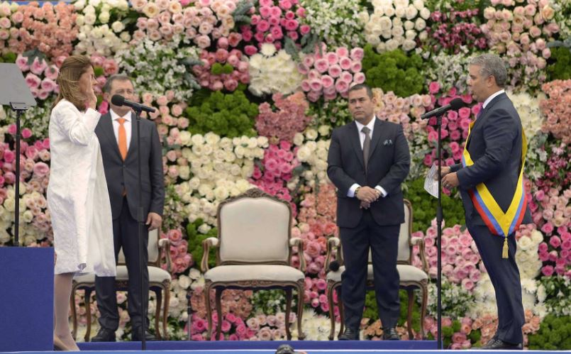 Toma de juramento a la vicepresidenta de Colombia