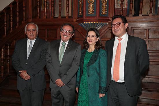 La Secretaria General y el Vicesecretario General de la OISS con invitados especiales