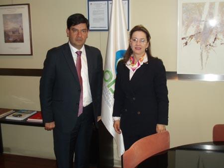 Juan Carlos Cortés González,Viceministro de Empleo y Pensiones de Colombia y Gina Magnolia Riaño Barón, Secretaria General de la OISS